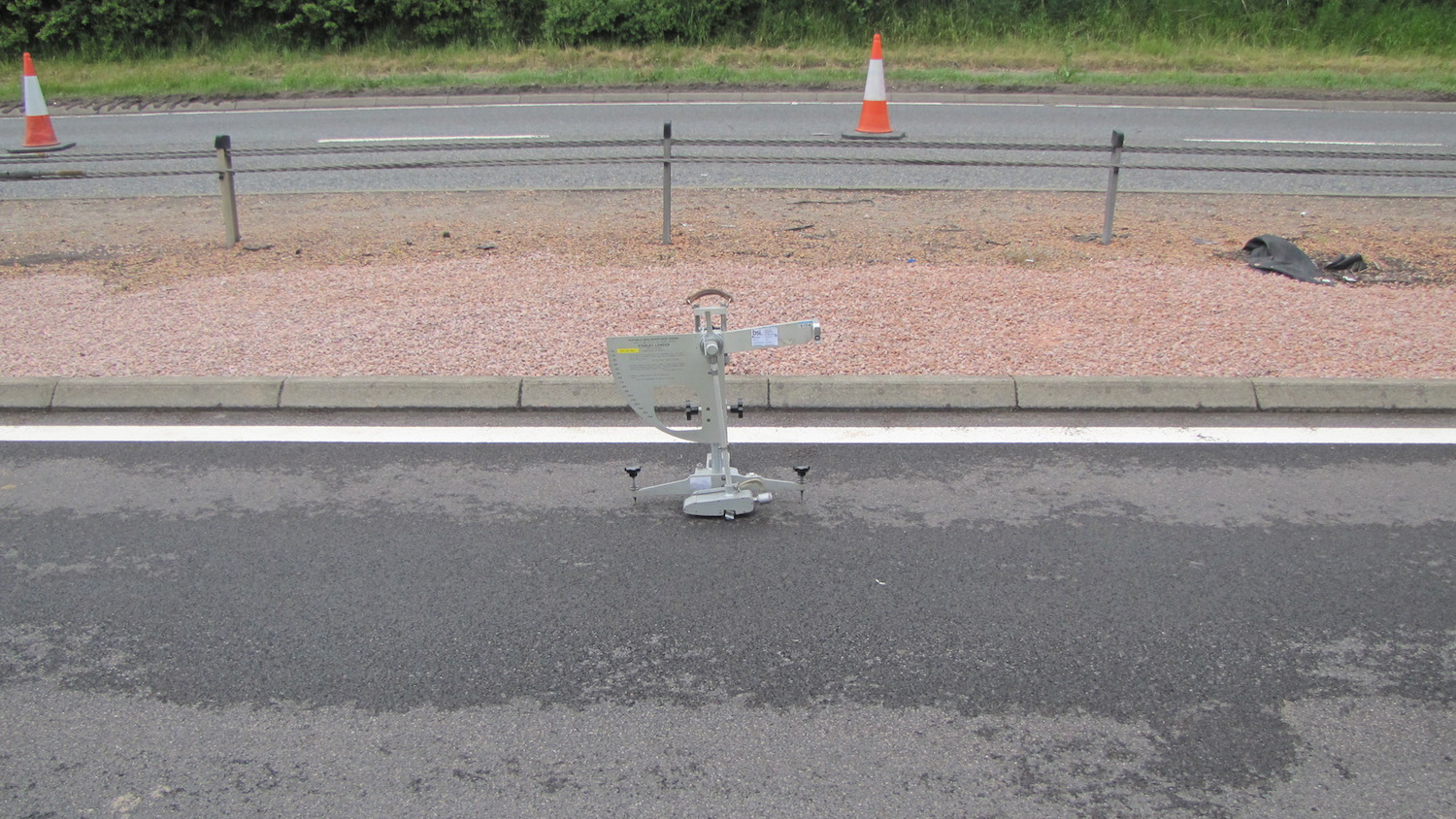 Skid resistance testing on the A90 in Scotland.
